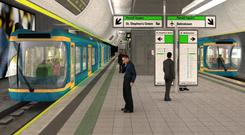 An artist's impression of the metro scheme – a project with a troubled history