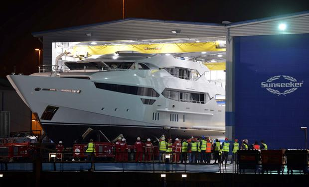 The 155-ft 200-tonne Sunseeker yacht that Eddie Jordan, inset, sold for about €23m
