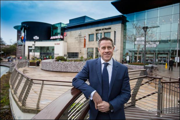 Simon Betty, Hammerson's director of retail, Ireland, outside the Dundrum Town Centre in Dublin