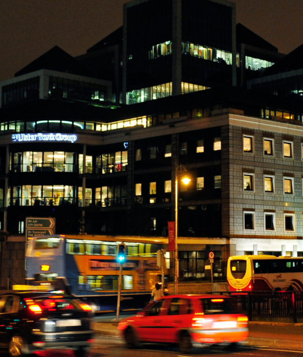 Ulster Bank's Irish HQ in Dublin — last week customers found that money that had previously been lodged to their accounts had 'disappeared.' Photo: Bloomberg
