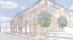 An artist's impression of the proposed Players Square scheme on Dublin's South Circular Road
