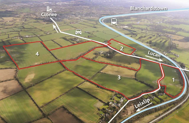 The lands are located next to the Lucan/Clonee Road (R149)