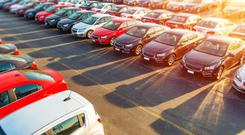 The O'Flaherty group imports and distributes cars across Ireland. Stock Image