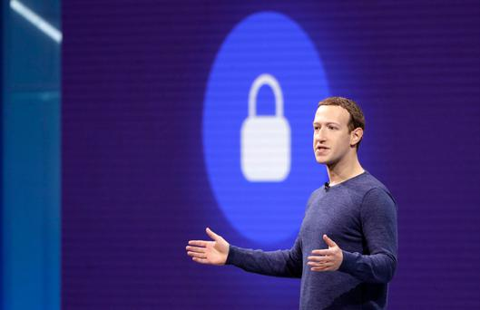Chief executive Mark Zuckerberg delivers the keynote speech at F8 the Facebook developer conference in San Jose California earlier this month