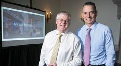 DAA CFO Ray Gray and CEO Dalton Philips. Photo: Peter Houlihan/ Fennell Photography