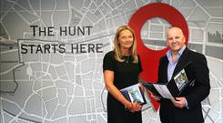 Sean Gallagher with Rowena Quinn of Hunters Estate agents. Photo: David Conachy