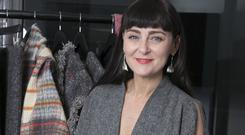 Triona Lillis of the Tweed Project at the WearingIrish showcase in New York. Photo: Katie Levine.