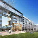 An artist's impression of the proposed town centre at Cherrywood, which will include 1,269 build-to-rent apartments