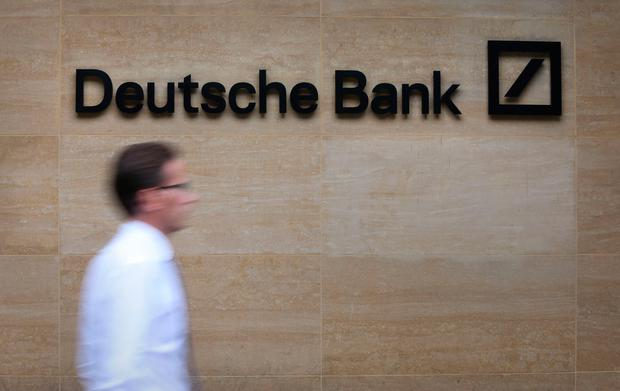 'Germany's largest lender is already facing challenges with US bank regulators and in financial markets, with its stock price falling to historic lows on Thursday.' Photo: PA