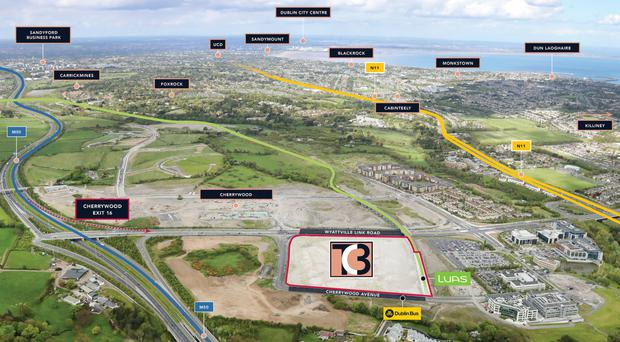 13.1 acre Cherrywood SDZ site comes on the market