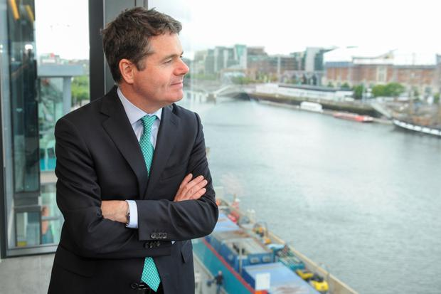 If Minister for Finance Paschal Donohoe decides to sell AIB shares it could yield a significant windfall, but there are risks with selling off bank shares too quickly. Photo: Bloomberg