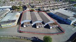 Aerial view of Unit 22, Greenhills Industrial Estate