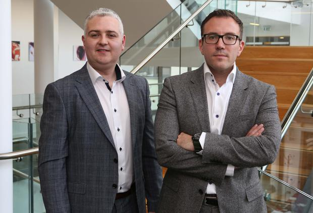 Tony O'Halloran and AuriGen Medical chief executive Dr John Thompson