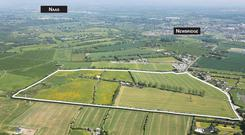 An aerial view of the Hawkfield House Stud lands