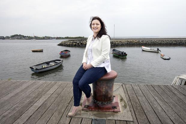 Kate Dempsey from the Irish Mussel Seed Company at Wexford Harbour. Photo: Tony Gavin