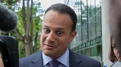Taoiseach Leo Varadkar at the official opening of the new Amazon Web Services offices in Dublin last week. Photo: Gareth Chaney/Collins
