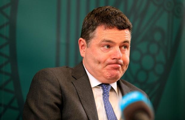 Minister for Finance Paschal Donohoe pictured at a press conference on the Summer Economic statement. Photo: Gerry Mooney