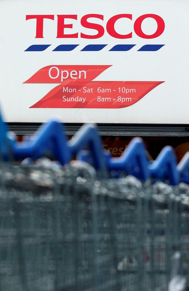 Tesco has continued to flex its considerable retail muscle to hold on to the top slot with a market share of 22.4pc. Photo: PA