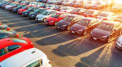 Dealerships are hoping for a midsummer pickup in new car sales. Stock Image