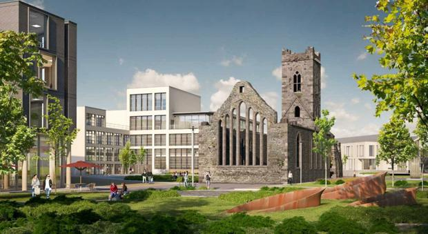 An artist's impression of the Abbey Quarter, which is set to be developed on the site of the former Smithwicks brewery in Kilkenny City