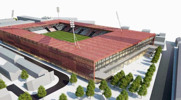 Plan for 12,000-seat stadium to replace Dublin's Richmond Park now includes 500 new homes