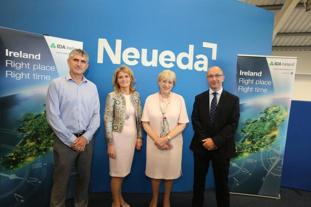 Paul Madden, director, Neueda Technologies; Mary Buckley, executive director, IDA Ireland; Minister for business Heather Humphreys; and David Bole, founder of Neueda Technologies