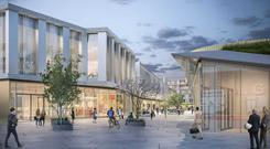 An artist's impression of Quad 3, a scheme comprising retail, offices and apartments planned by IPUT for The Park in Carrickmines