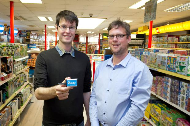 Mark Cummins and Charles Bibby, co-founders of retail technology startup Pointy.
