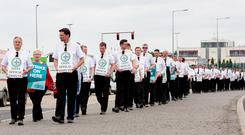 Ryanair pilots picketed Dublin Airport last week.