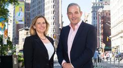 Cynthia Hollen and Tommy Kelly are ramping up eShopWorld's operations in the United States. Photo: Larry Lettera/ Camera 1