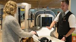 Modern CT scanners — which are replacing X-rays — in operation at Amsterdam's Schiphol airport