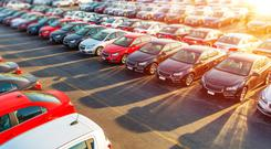 The number of car imports from the UK continues to increase. Stock Image