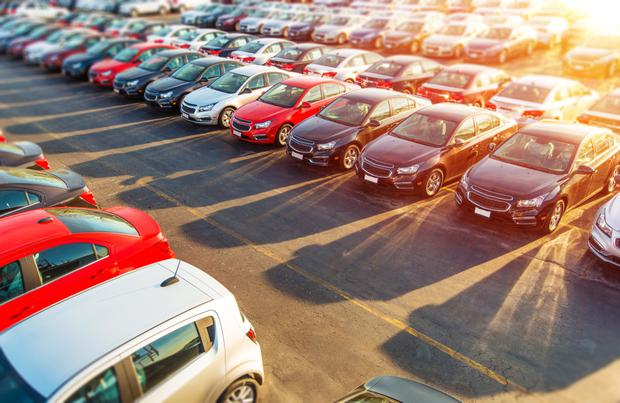 The number of car imports from the UK continues to increase Stock Image