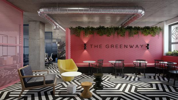 Render of Design for The Greenway - Iconic Offices (3D Design Bureau)