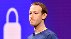 Facebook founder Mark Zuckerberg lost $17bn in net worth as the value of Facebook shares slid Photo: AFP/Getty
