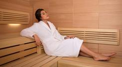 One of the saunas at the new business lounge in Charles de Gaulle Airport in Paris