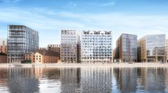 An artist's impression of how the Project Waterfront site might look upon completion