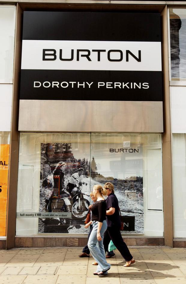 Revenues were up at the firm which operates the Burton, Dorothy Perkins and Evans brands