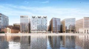 An artist's impression of the proposed 'Project Waterfront' scheme in Dublin's Docklands. Joint agents Savills and Cushman & Wakefield are guiding a price of €120m for the 4.6 acre site