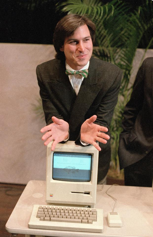 Steve Jobs launching the new Macintosh computer in 1984. Photo: AP