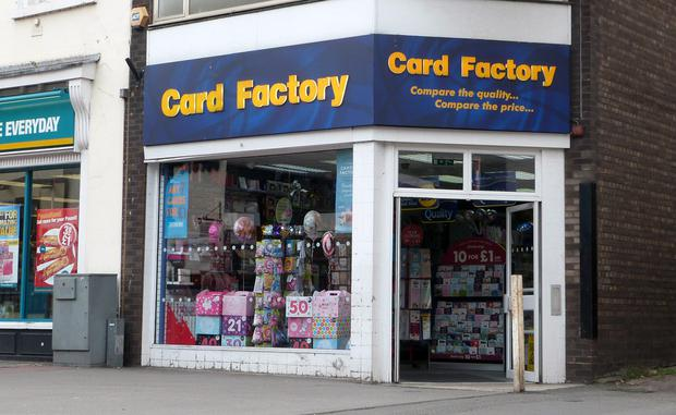 Card Factory highlighted a 'weak consumer environment'