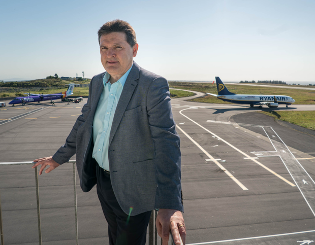 Joe Gilmore says the airport is 80pc reliant on the UK and Brexit is 'potentially catastrophic'. Photo: Keith Heneghan / Phocus