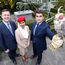 Enda Corneille, Ireland country manager with Emirates, Nisha Leelakrishnan, Emirates cabin crew, and Ahmad Younis, Arab-Irish Chamber of Commerce at the launch of the Arab-Irish Forum