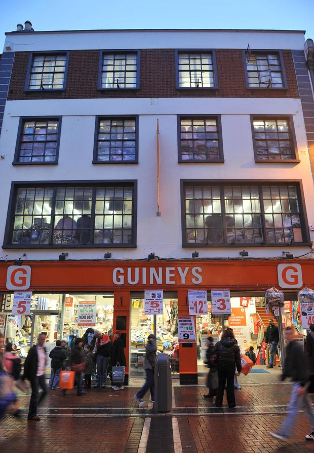 Guineys has 10 stores here, including shops in Dublin, Cork, Limerick, Waterford and Kilkenny