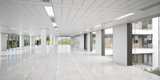 The interior of the proposed offices