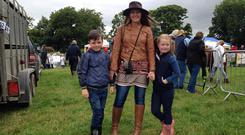 Donna Maskery with her children Callum and Sophie. Donna hopes to open up her farm near Donegal town to host wellness and positive mental health events after losing her brother Aaron to suicide in 2012
