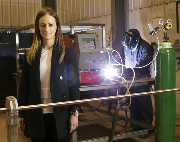 Sinead O'Dwyer, MD at Pressure Welding Manufacturing, started out in 2015 and has stayed with the business. Photo: Tony Gavin