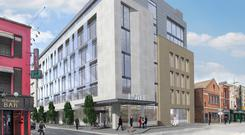 Work in progress: Tetrarch's Moxy Hotel at Sackville Place is just one of a number of developments taking place as part of the regeneration of Dublin's north city