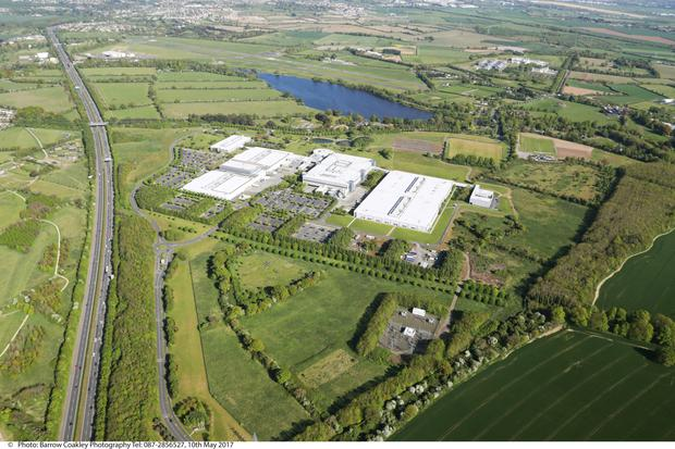 Aerial view: The former HP campus in Leixlip, Co Kildare