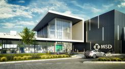 An artist's impression of the new MSD plant